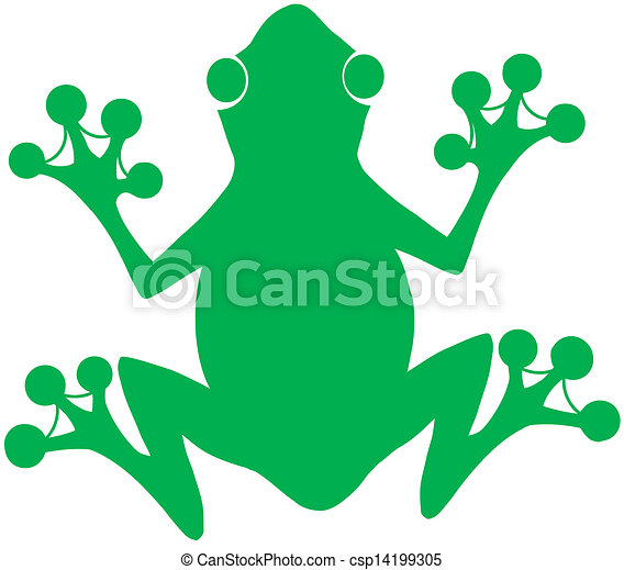 green frog silhouette logo cartoon character vector clipart search rh canstockphoto com  big frog vector logo