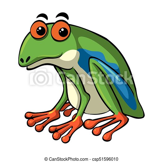green frog with happy face illustration vector clip art search rh canstockphoto com