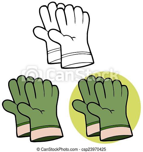 Green Gardening Hand Gloves