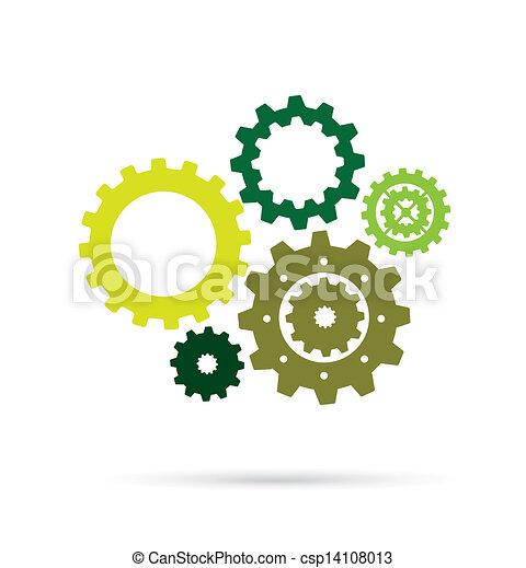 green gears  - csp14108013
