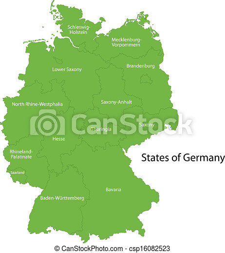 green germany map csp16082523