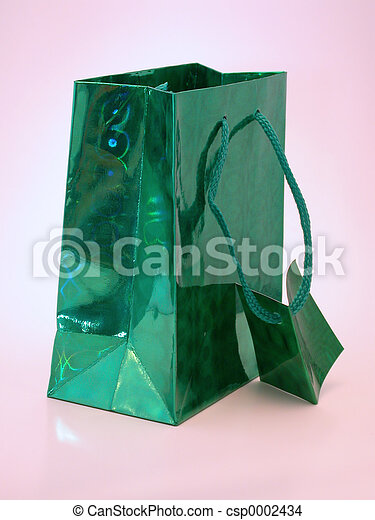 Green Gift Bag - csp0002434