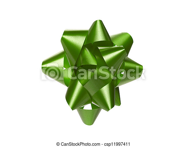 green gift bow - csp11997411
