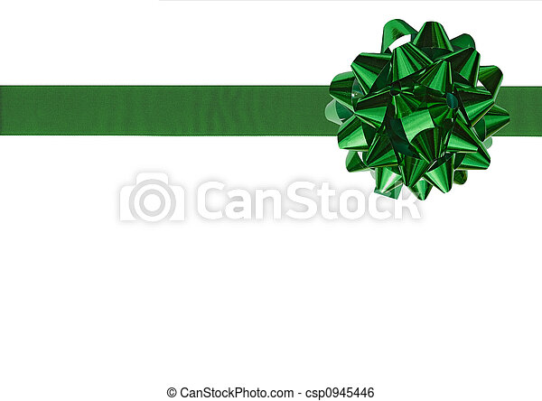 Green Gift bow - csp0945446