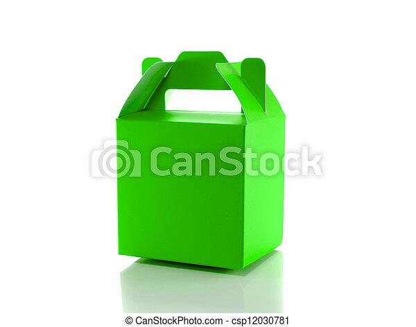 green gift box - csp12030781