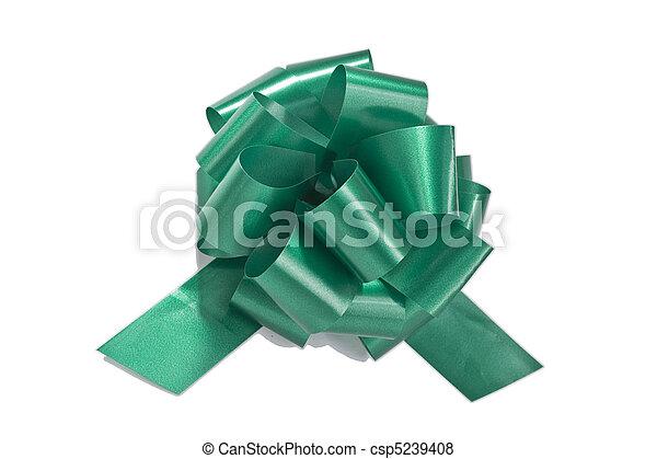 Green gift ribbon - csp5239408