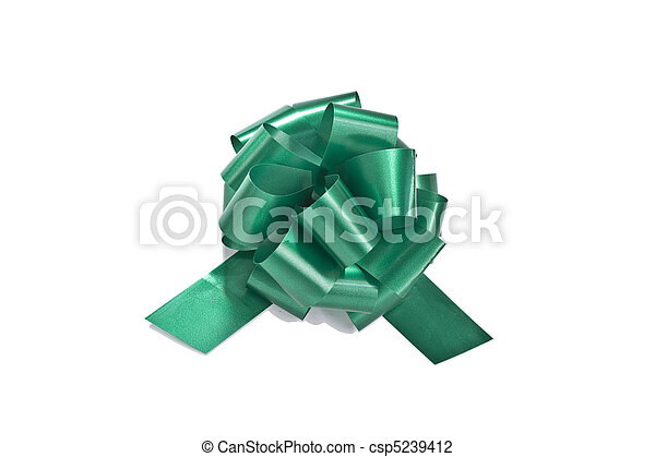 Green gift ribbon - csp5239412