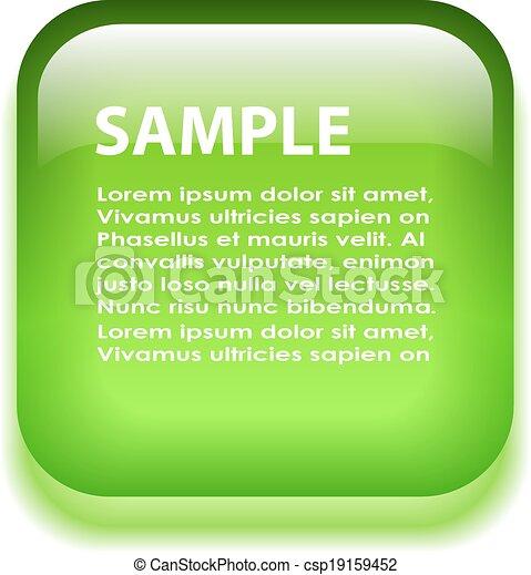 Green glass information board - csp19159452