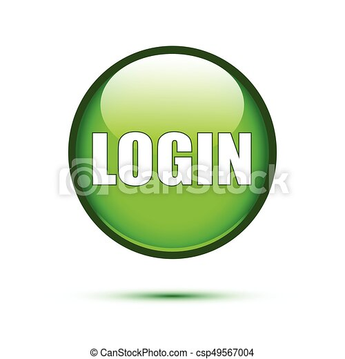 Green glossy login button on white - csp49567004