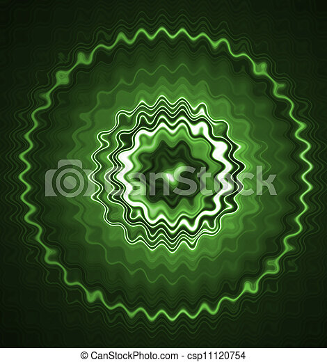 Green glowing abstract background - csp11120754