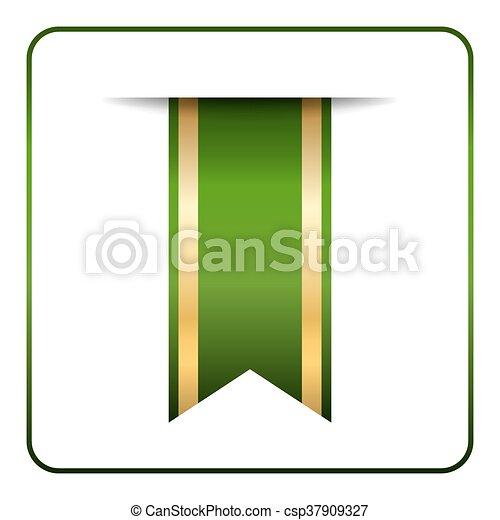 Green gold bookmark - csp37909327