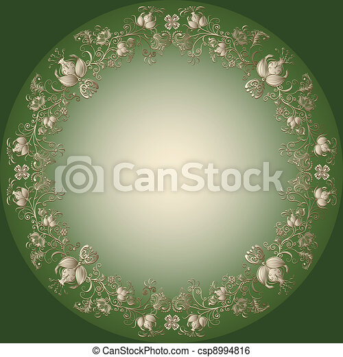 Green Gold Easter Frame Green And Gold Easter Frame With Vintage