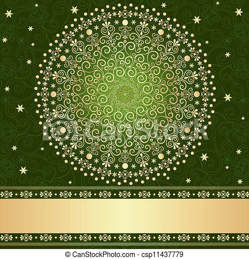 Green Gold Floral Frame Green And Gold Elegance Filigree Vintage