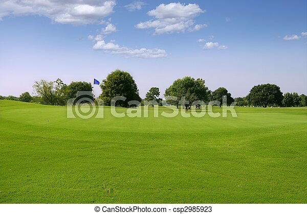 Green Golf grass landscape in Texas - csp2985923