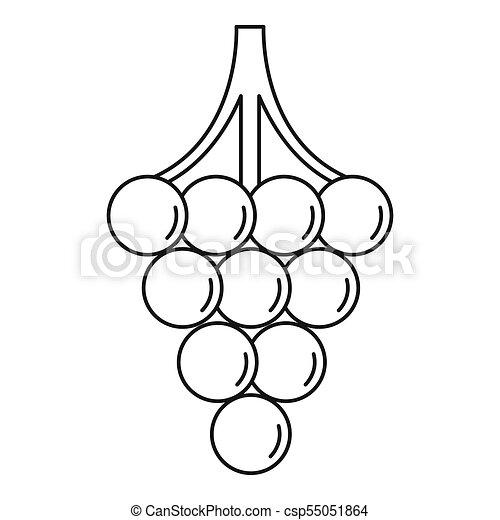 grapes outline