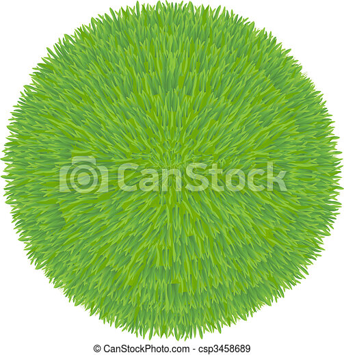 Green Grass Ball  - csp3458689