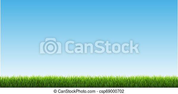 Green Grass Border With Sky - csp69000702