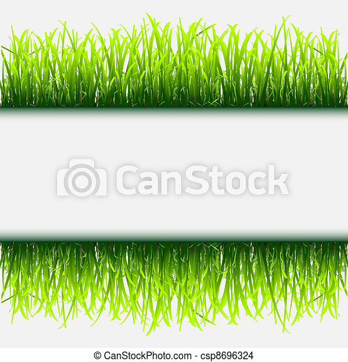 Green grass frame - csp8696324