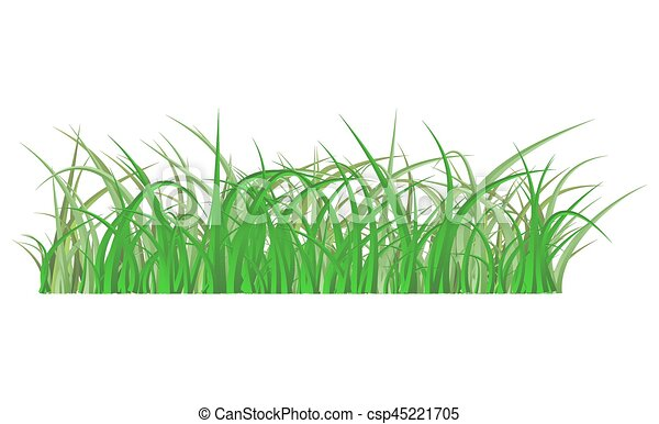 Green Grass Isolated Vector Symbol Icon Design Beautiful