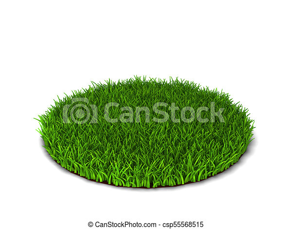 Line Drawing Grass : Green grass lawn d illustration isolated on white clipart