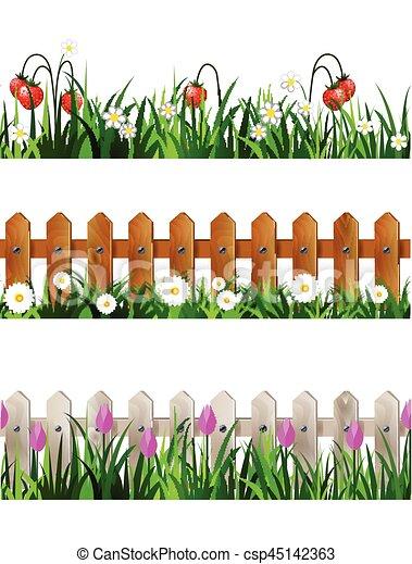 A beautiful flower fence - Download Free Vectors, Clipart Graphics & Vector  Art