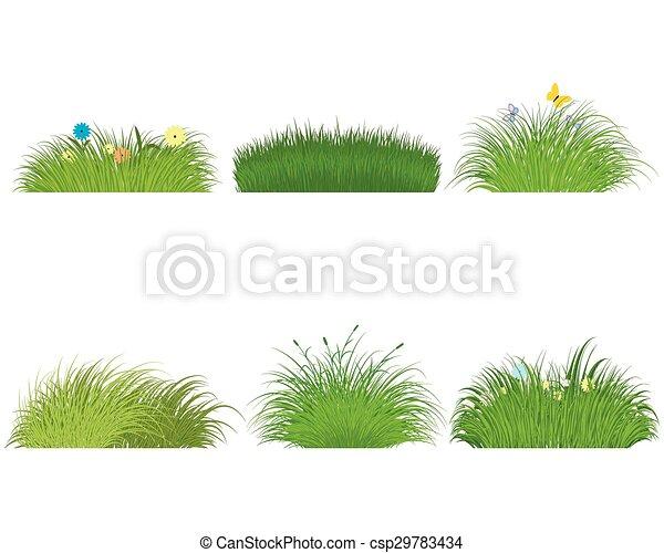 Green grass set - csp29783434