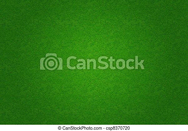 green grass soccer or golf field background - csp8370720