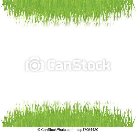 Green grass vector background - csp17054420