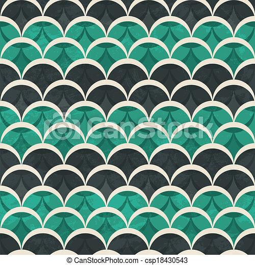 Preferred Green half circle seamless pattern. AQ29