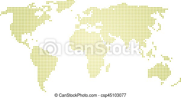 Green halftone world map of small dots in linear vectors green halftone world map of small dots in linear arrangement simple flat vector illustration on gumiabroncs Choice Image