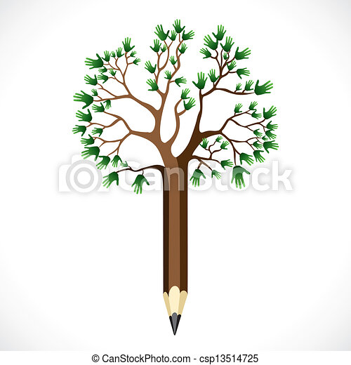 green hand tree - csp13514725