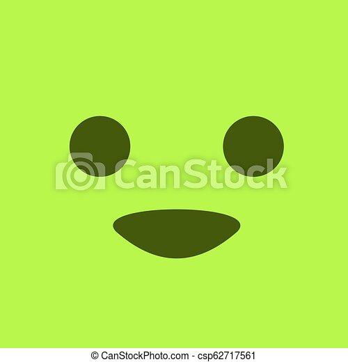 green happy face - csp62717561