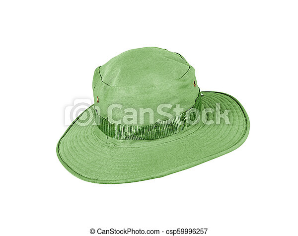 Green hat isolated on white background. - csp59996257