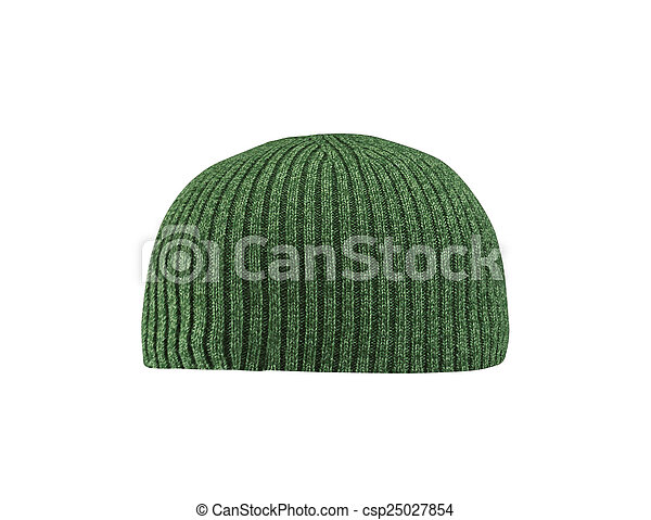 green hat isolated on white - csp25027854