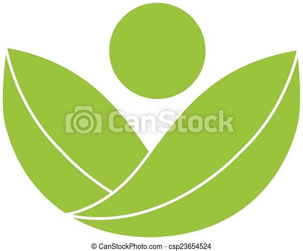 Green health nature logo - csp23654524