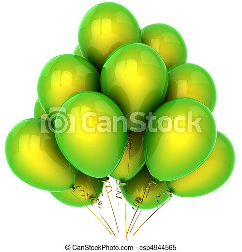 Green Helium Balloons Hi Res Bunch Of Beautiful Helium Balloons