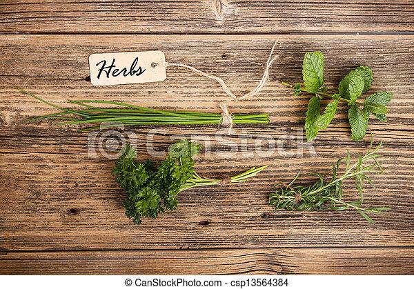 Green herbs - csp13564384
