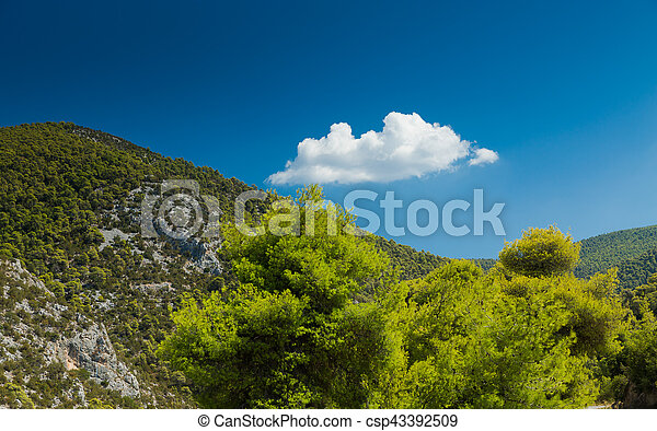 Green Hill in Greece - csp43392509