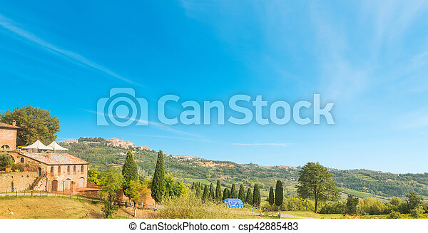 green hill in Tuscany - csp42885483