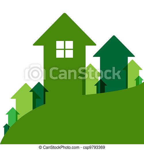 Green Home Value - csp9793369