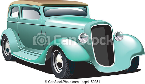 Green Hot Rod - csp4159351