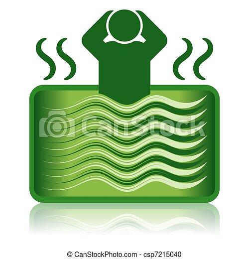 Green Hot Tub / Spa Bath / Bathtub - csp7215040