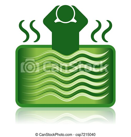 green hot tub spa bath bathtub this illustration features an rh canstockphoto com