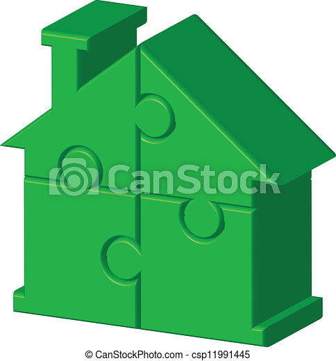 green house from puzzle - csp11991445