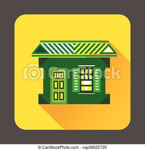 Green house icon, flat style - csp39525720