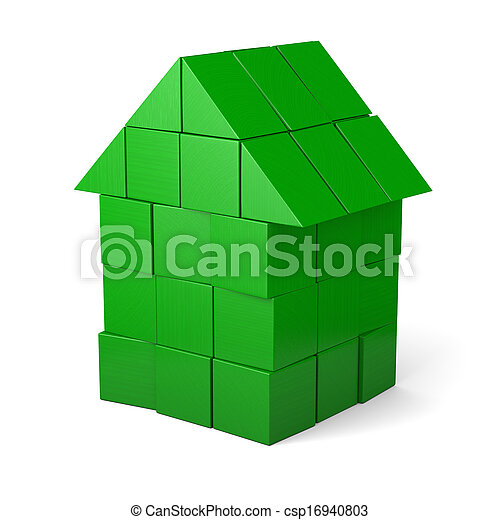 Green house made of cubes - csp16940803