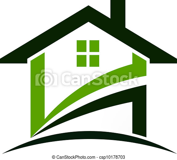 green house swoosh green house formed by curved swooshes vector rh canstockphoto com house vector file house vector icons