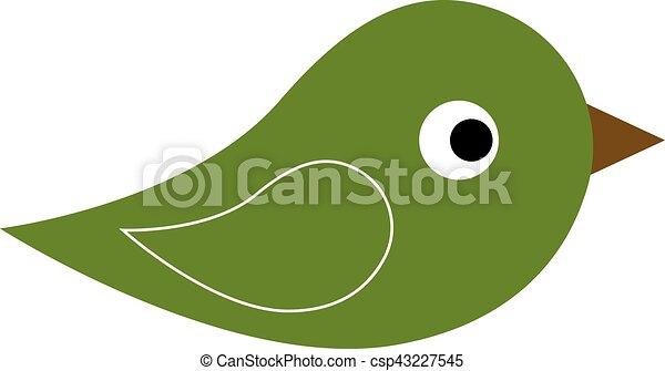Green icon of bird - csp43227545