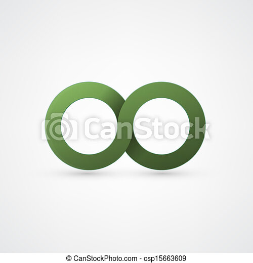 green infinity sign - csp15663609