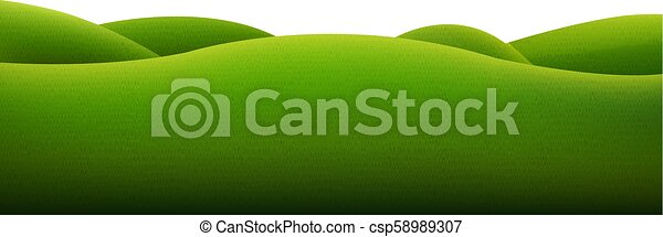 Green Landscape Isolated - csp58989307